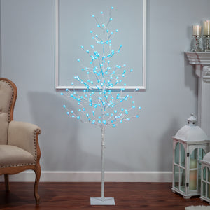 6-Foot High Electric Tree with Crackle Ball Remote Controlled LED Lights