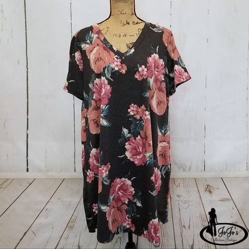 Swing Floral Dress Plus