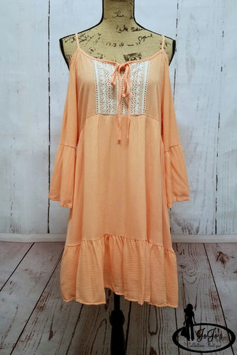 Peasant Peach Dress