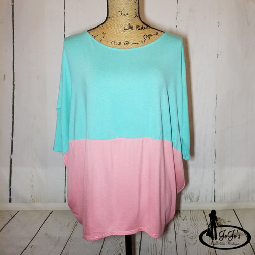 Colorblock Dolman Top Plus