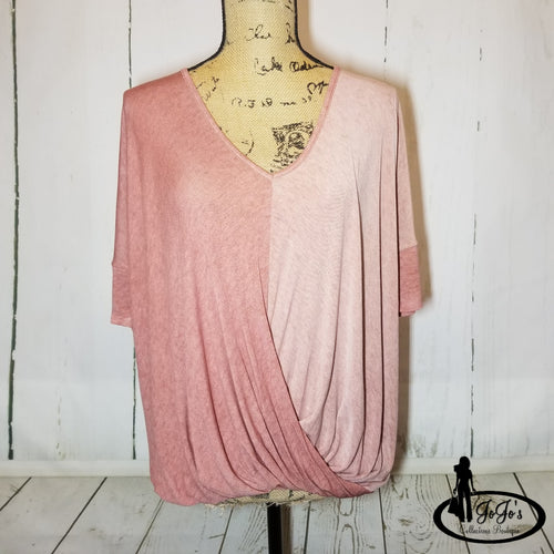 Ombre Twisted Top Plus