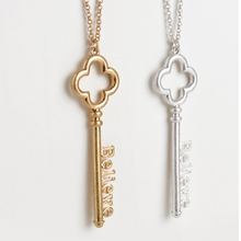Believe Key Pendant Necklace