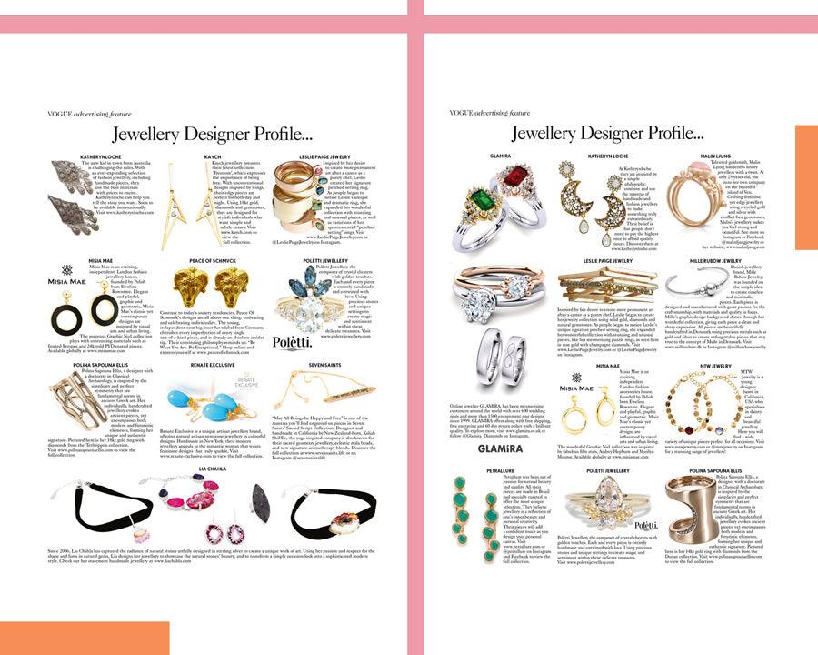 VOGUE AND KATHERYNLOCHE JEWELLERY