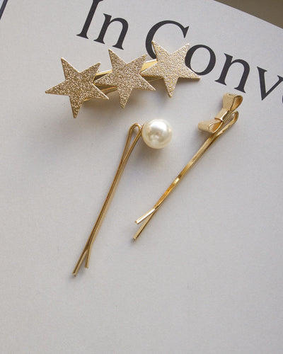 Starry Hair Clip Set