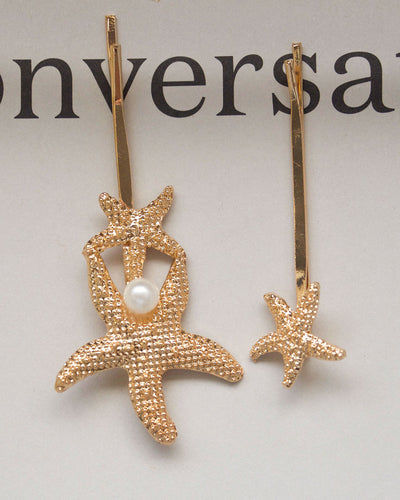 Starfish Hair Clip Set of Two