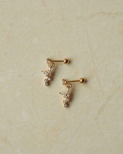 Stainless Steel - CZ Mini Flower Stud Earrings