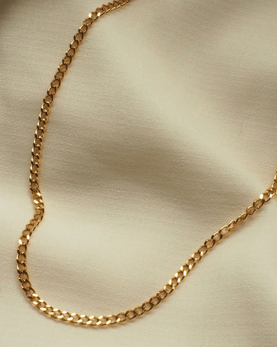 18K gold plated - Classic Curb Chain Necklace