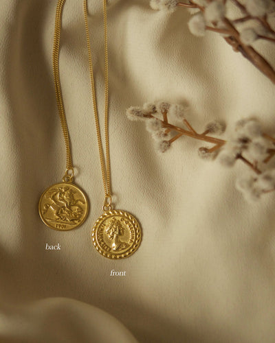 925 Sterling Silver - Reversible Coin Necklace