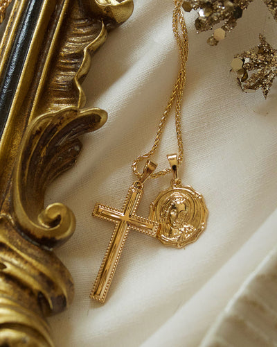 Devine -  Dual Cross Pendant Necklace