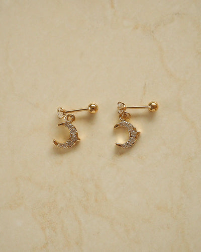 Stainless Steel - CZ Mini Celestial Stud Earrings