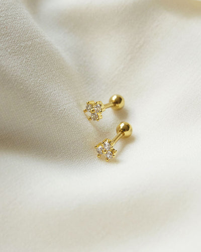 Stainless Steel - Oregon Gold Stud Earrings