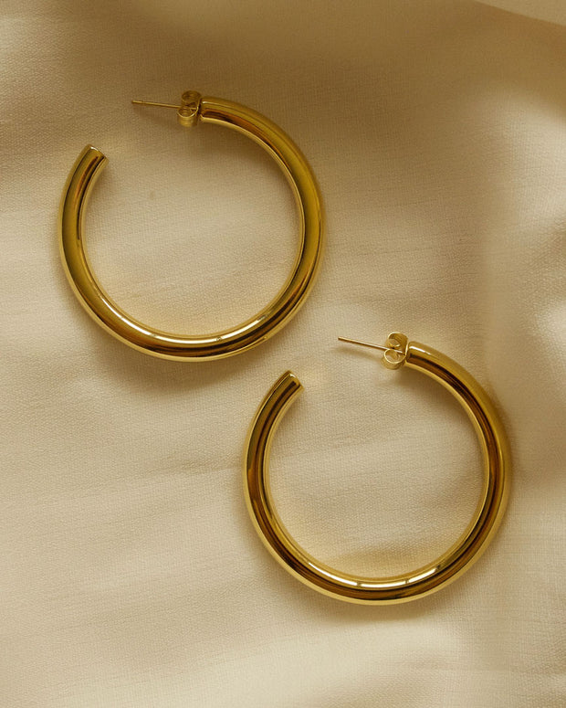 Jada Gold Hoop Earrings (3 sizes)