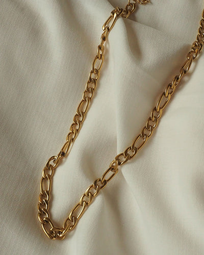 18K gold plated - Ara Figaro Chain Necklace