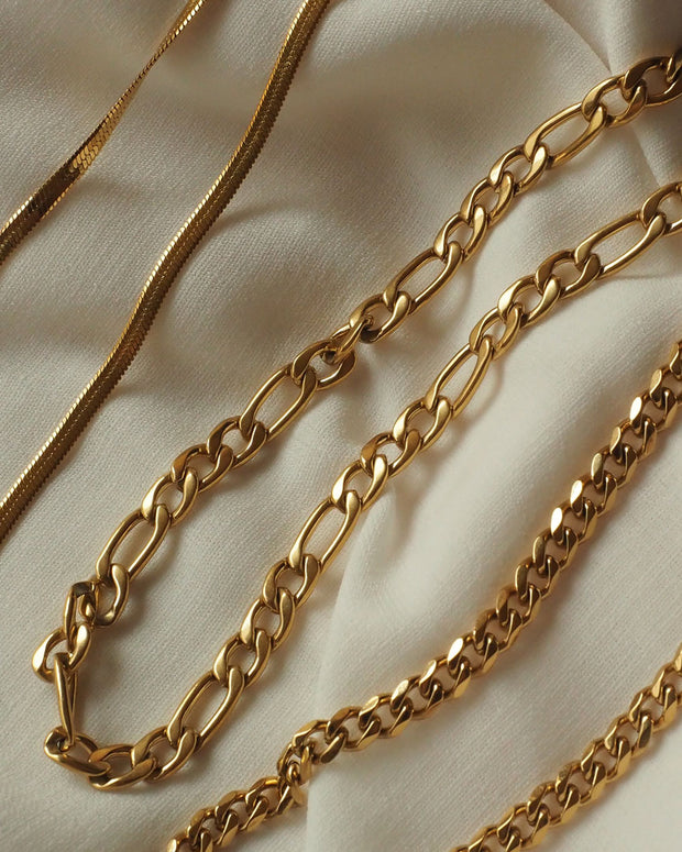 18K gold plated - Slim Link Chain Necklace
