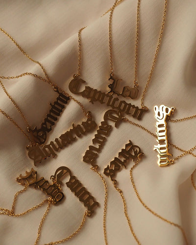 18K Gold Plated -  Jeulia Zodiac Gold Necklace