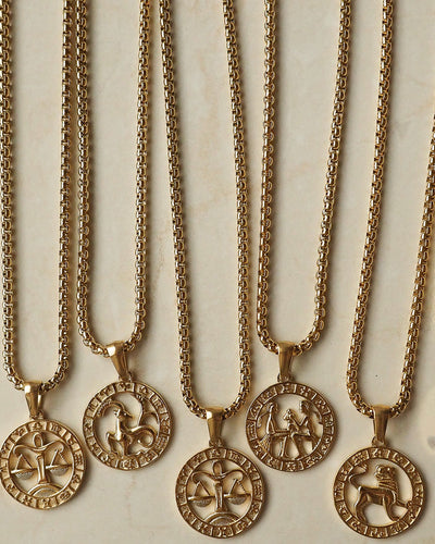 18k gold plated - Zodiac Gold Necklace
