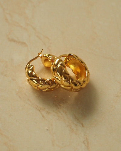 18k Gold Plated - Mini Bali Hoop Earrings