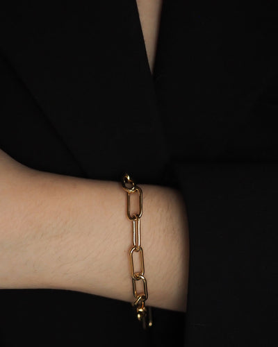 18k Gold Plated - Alt Link Gold Bracelet