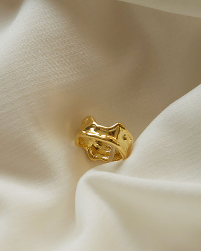 18k Gold plated - Artefact Gold Ring