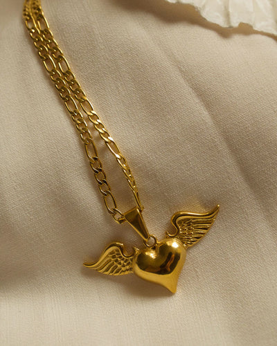 18K gold plated - Heart Pendant Necklace
