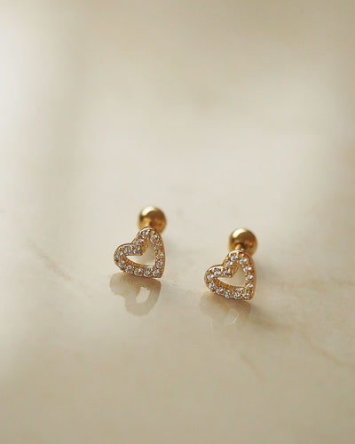 Stainless Steel - Valentine Stud Earrings