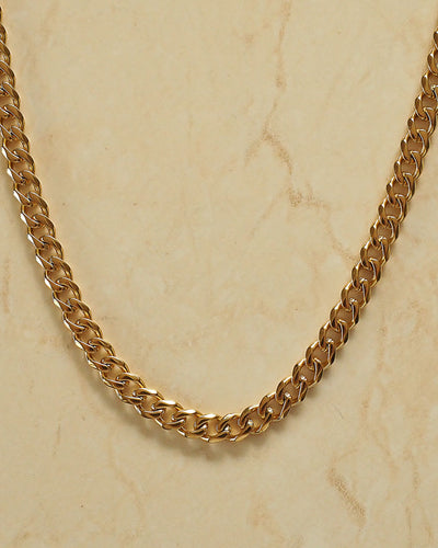 18k Gold Plated - Curb Chain Necklace
