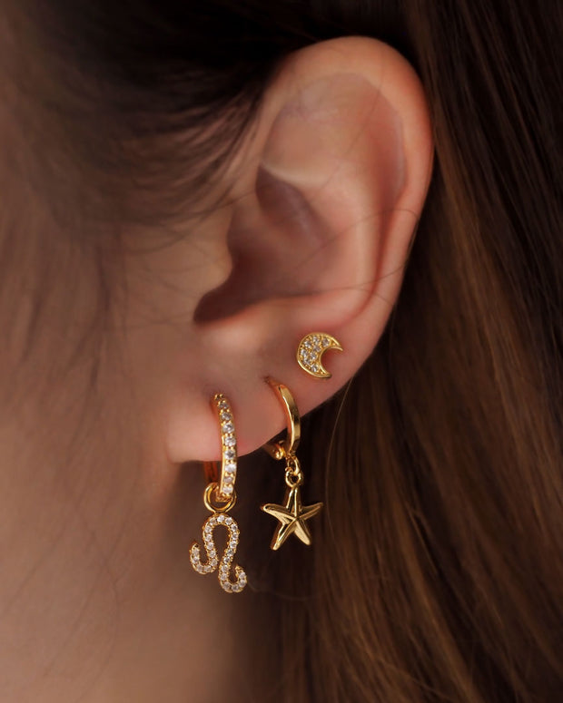 Gold Plated - Mystic Starfish Hoop Earrings