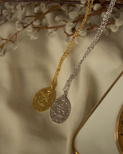 18K Gold Plated - St. Christopher Medal Necklace (Gold and Silver)