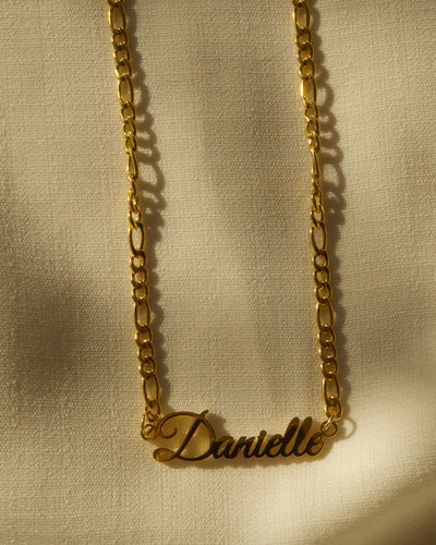 18k gold plated -  The Nameplate Personalised Necklace (Made to Order)