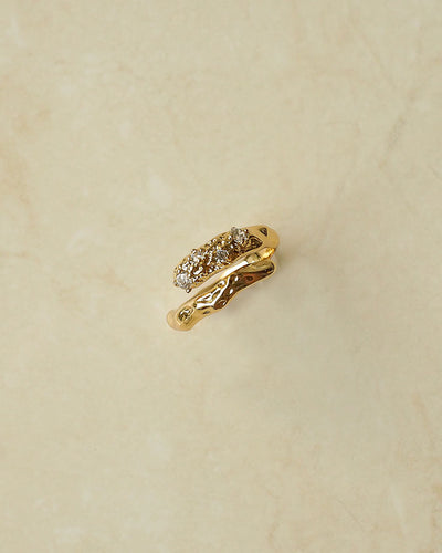 18k Gold Plated - CZ Adelphie Gold Ring