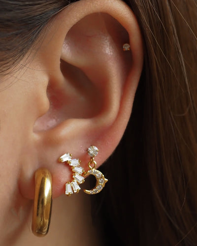 Gold Plated - CZ Niamh Stud Earrings