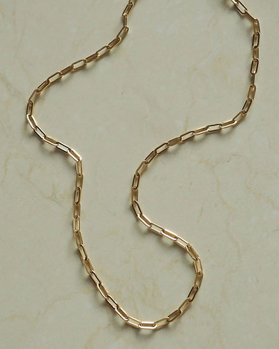 18k gold plated - Slim Bambi Link Chain Necklace
