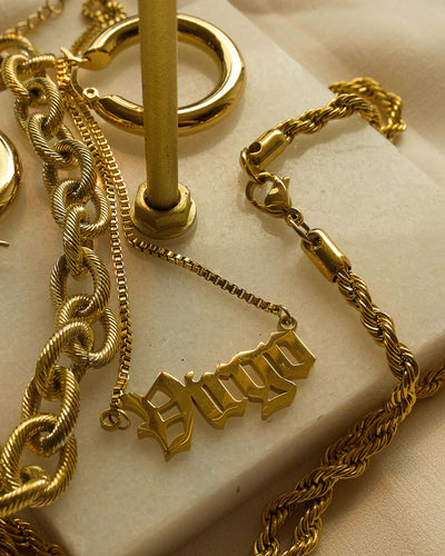 18k gold plated - Bernadette The Nameplate Personalised Necklace (Made to Order)