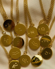 18K Gold Plated - Ciara Zodiac Gold Necklace