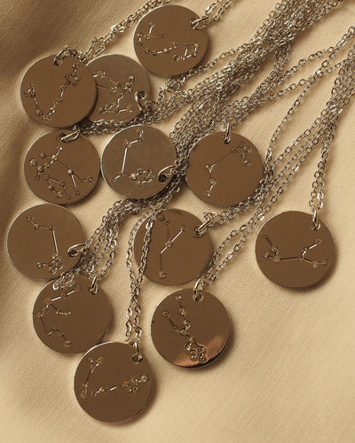 Devine - Zodiac Constellation Silver Necklace