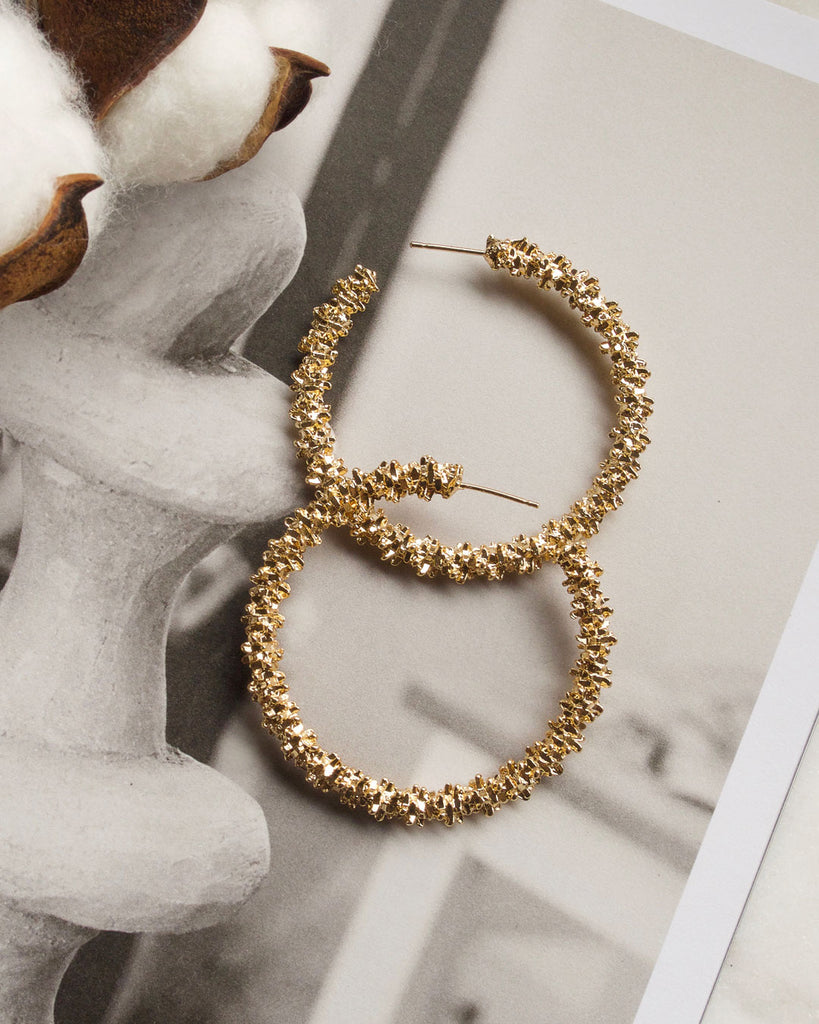 Adelina Gold Hoop Earrings (Big Size)