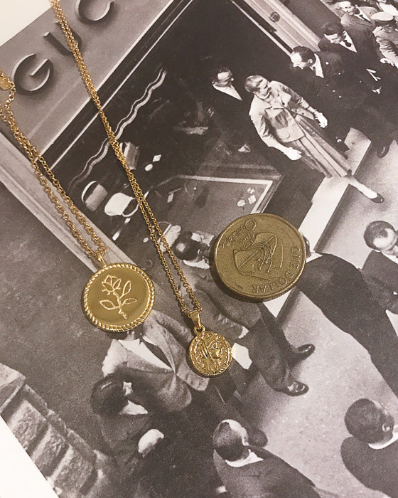 18K Gold Plated - Paulette Coin Necklace