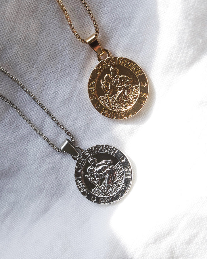 St Christopher Necklace (Back in stock)
