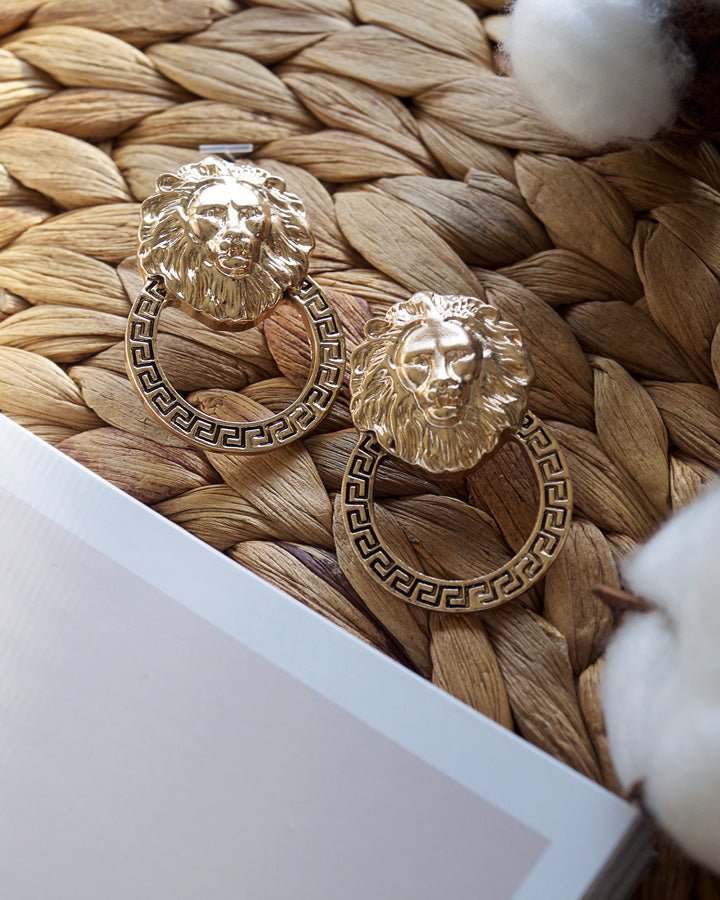 LION GOLD EARRINGS