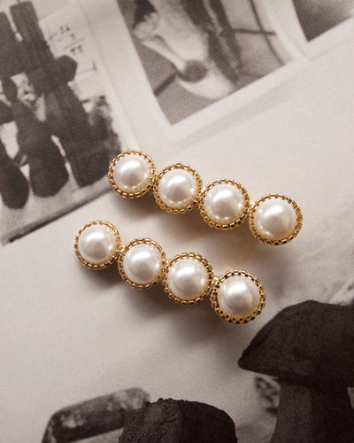 Ferrand Pearl Barrettes (Set of two)