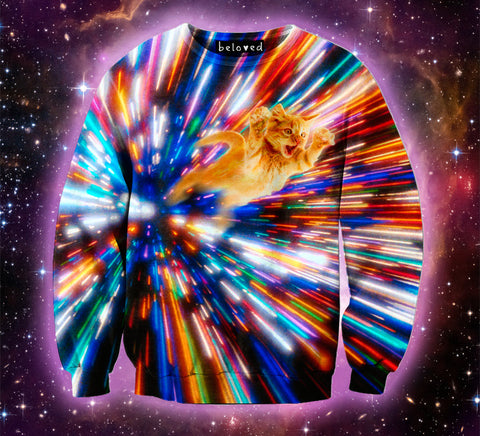 time travel galaxy space cat shirt