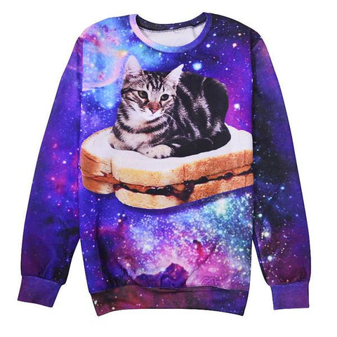 peanut butter jelly time cosmic cat
