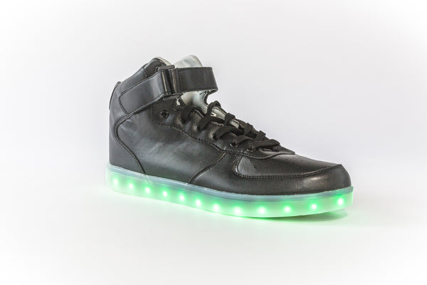 black high top led shoes