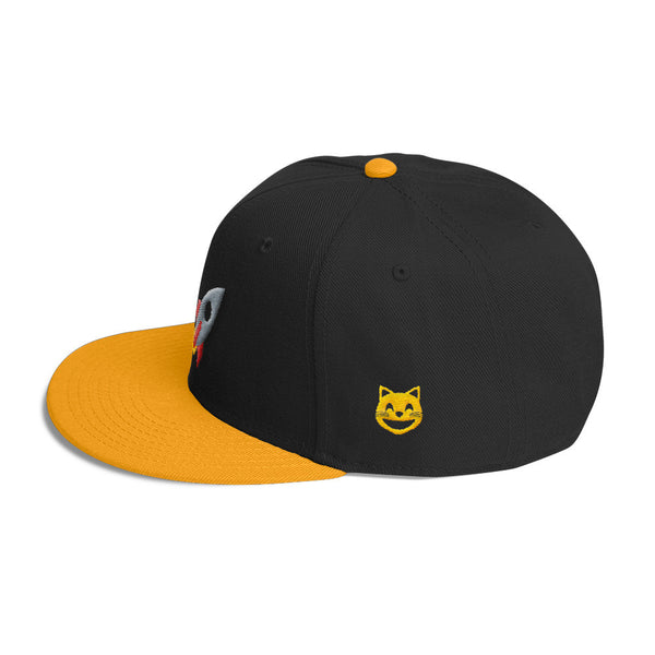 space cat snapback hat side view