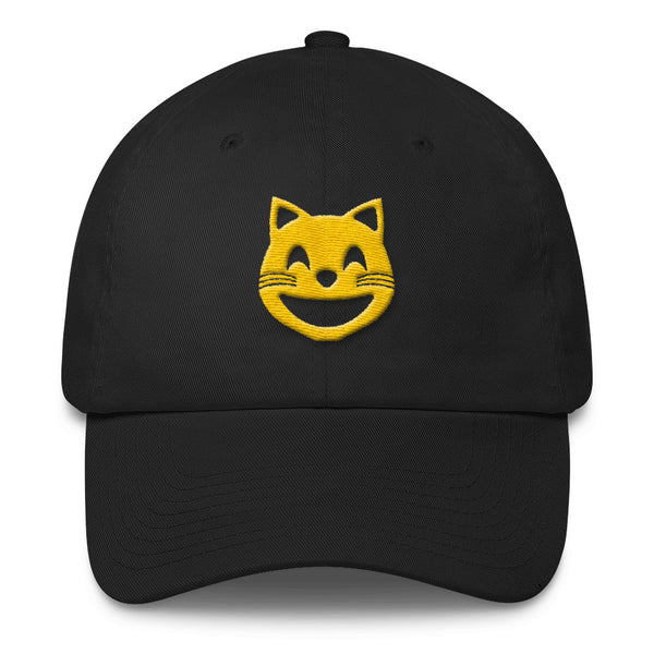 space cat emoji dad hat