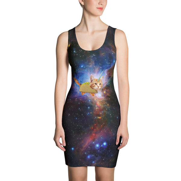 taco space cat dress