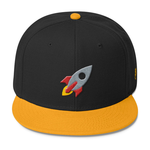 space cat snapback hat front view