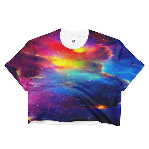 galaxy cloud loose crop top