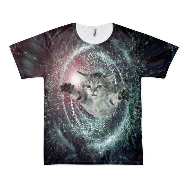 time travel black hole space cat shirt