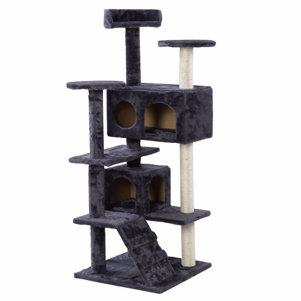 black cat tower, tree, condo
